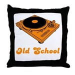 Old School Turntable Throw Pillow