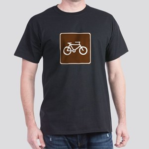 Bicycle Trail Sign Dark T-Shirt