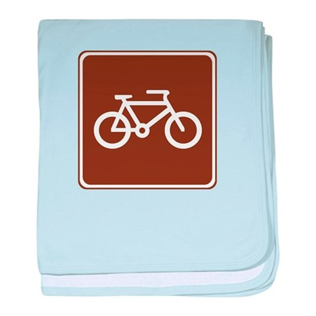 Bicycle Trail Sign baby blanket
