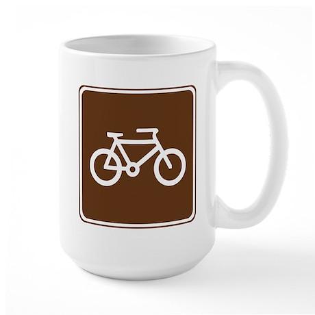Bicycle Trail Sign Large Mug