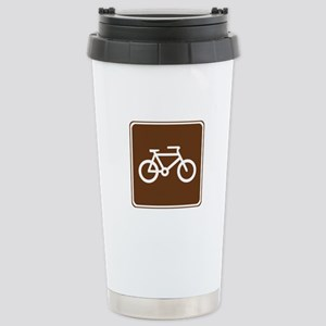 Bicycle Trail Sign Stainless Steel Travel Mug