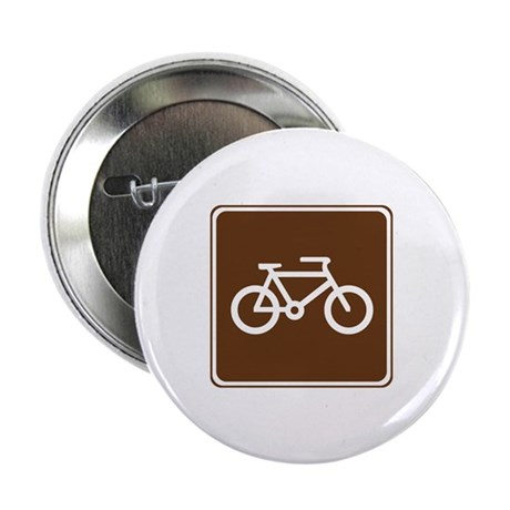 """Bicycle Trail Sign 2.25"""" Button (100 pack)"""