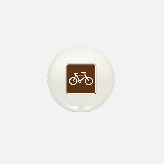 Bicycle Trail Sign Mini Button