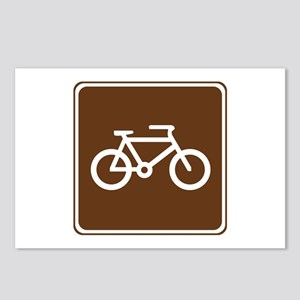 Bicycle Trail Sign Postcards (Package of 8)