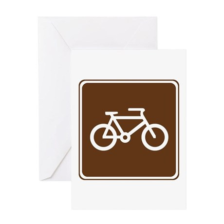 Bicycle Trail Sign Greeting Card