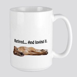Greyhound Retired Large Mug
