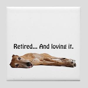 Greyhound Retired Tile Coaster