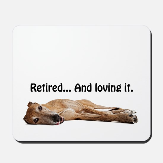 Greyhound Retired Mousepad