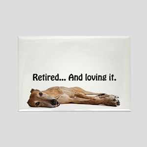 Greyhound Retired Rectangle Magnet
