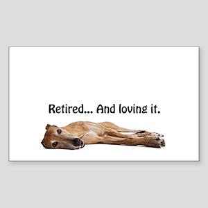 Greyhound Retired Sticker (Rectangle)