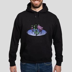 World's Greatest Librarian (Flower) Hoodie (dark)