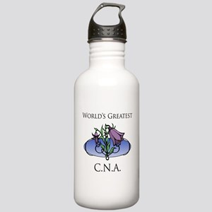 World's Greatest C.N.A. (Flower) Stainless Water B