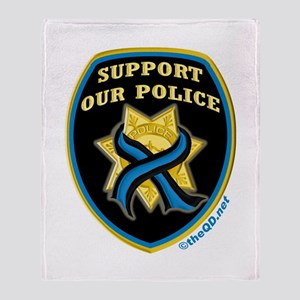 Thin Blue Line Support Police Throw Blanket