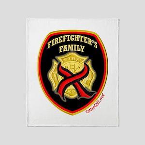 ThinRedLine FirefighterFamily Throw Blanket