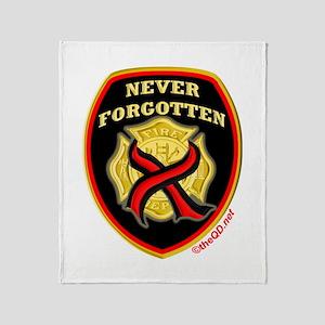 Thin Red Line NeverForgotten Throw Blanket