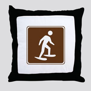 Snow Shoeing Sign Throw Pillow