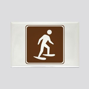 Snow Shoeing Sign Rectangle Magnet