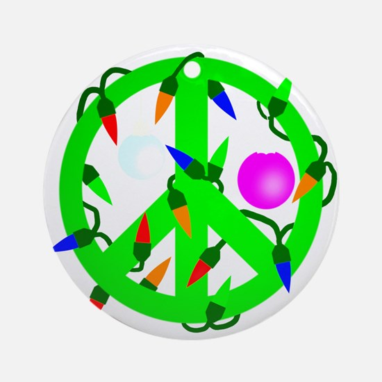 Peace For Christmas Ornament (Round)