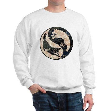 Origami Yin-Yang Wolves Sweatshirt