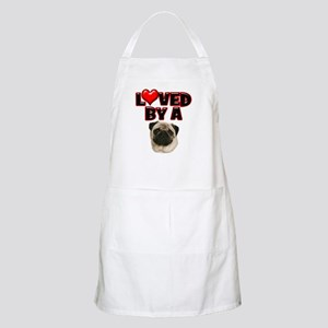 Loved by a Pug Apron