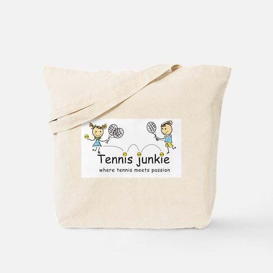 Tennis Junkies Boy and Girl Tote Bag