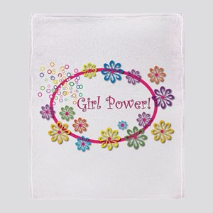 Girl Power Throw Blanket