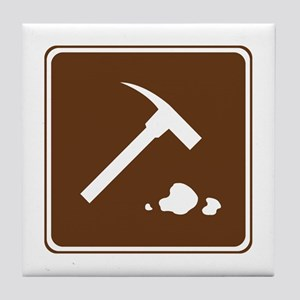 Rock Collecting Sign Tile Coaster