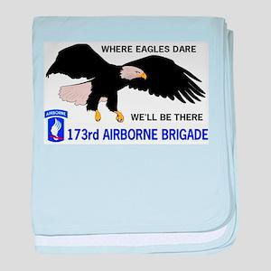173rd AIRBORNE baby blanket
