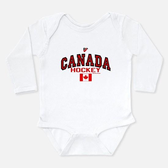 CA(CAN) Canada Hockey Long Sleeve Infant Bodysuit