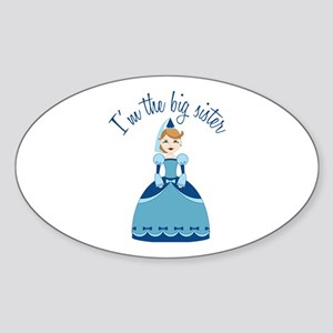 Big Sister Princess Sticker (Oval)