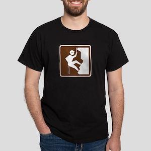 Rock Climbing Sign Dark T-Shirt