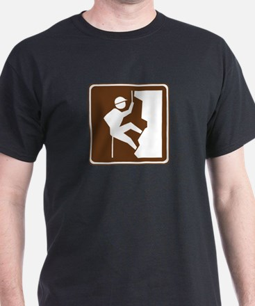Rock Climbing Sign T-Shirt
