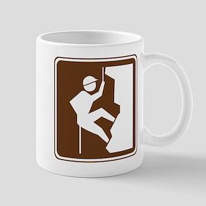 Rock Climbing Sign Mug