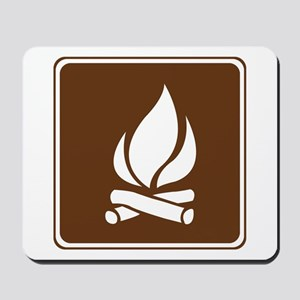 Campfire Sign Mousepad