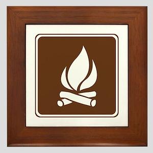 Campfire Sign Framed Tile