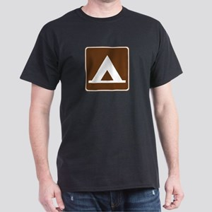 Camping Tent Sign Dark T-Shirt