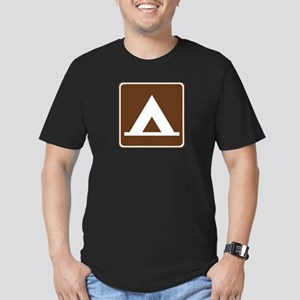 Camping Tent Sign Men's Fitted T-Shirt (dark)
