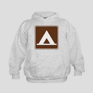 Camping Tent Sign Kids Hoodie
