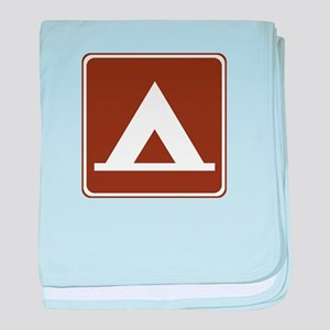 Camping Tent Sign baby blanket