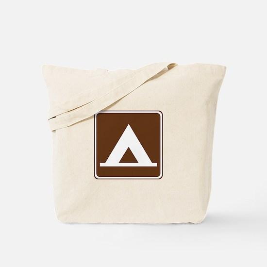 Camping Tent Sign Tote Bag