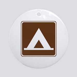 Camping Tent Sign Ornament (Round)