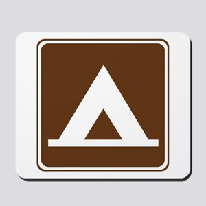 Camping Tent Sign Mousepad