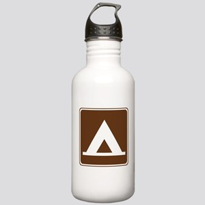 Camping Tent Sign Stainless Water Bottle 1.0L