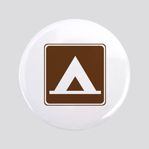 """Camping Tent Sign 3.5"""" Button"""