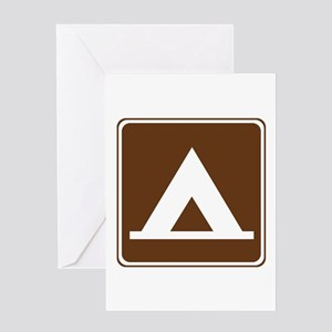 Camping Tent Sign Greeting Card