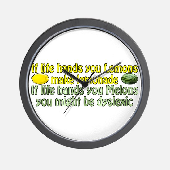 Melons of Dyslexia Wall Clock
