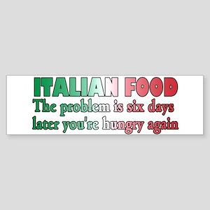 Italian Food Sticker (Bumper)