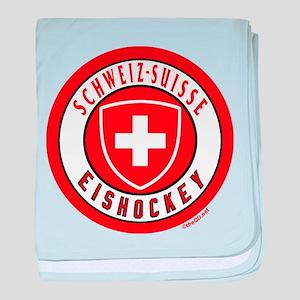 Switzerland Ice Hockey baby blanket
