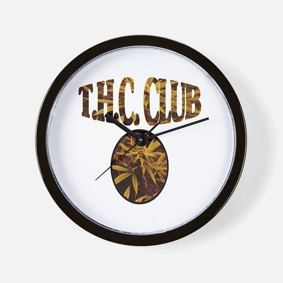 T.H.C. CLUB Wall Clock