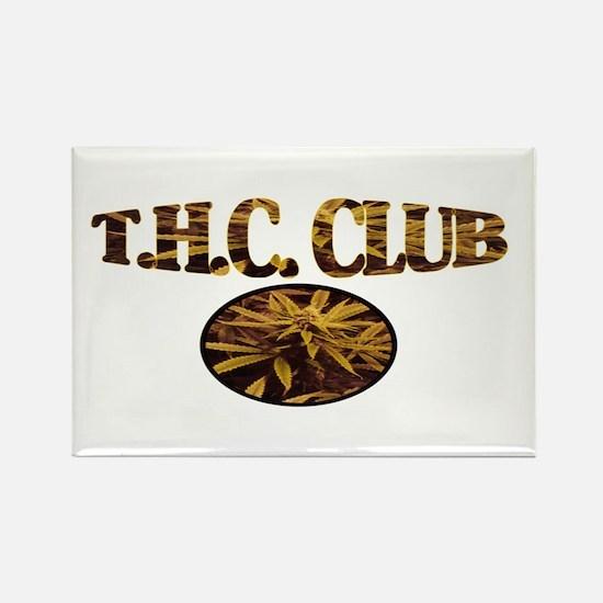T.H.C. CLUB Rectangle Magnet
